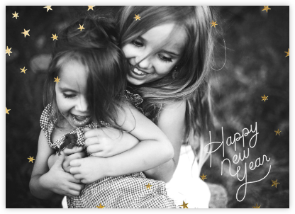 Nightly (New Years) - Gold/White - Paperless Post - New Year Cards