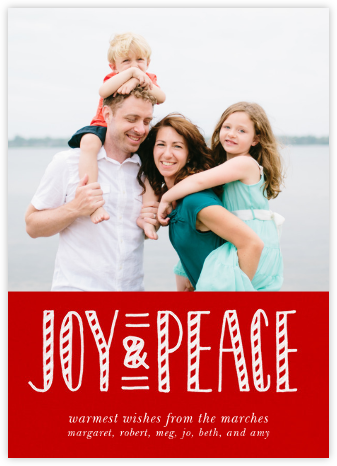 Joy and Candy Canes - Paperless Post - Holiday Cards