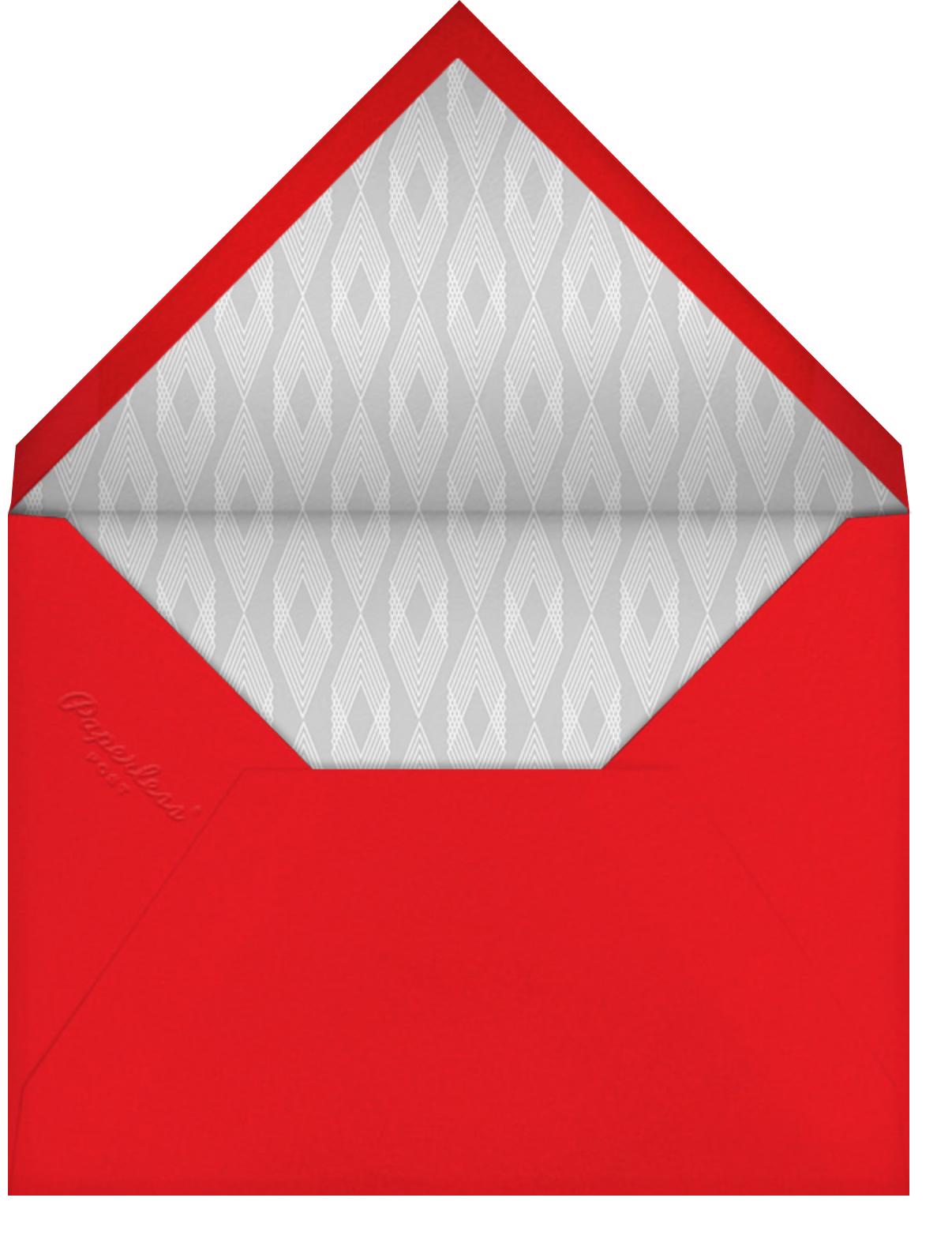 Fa Lalala La - Coral - Paperless Post - Holiday cards - envelope back