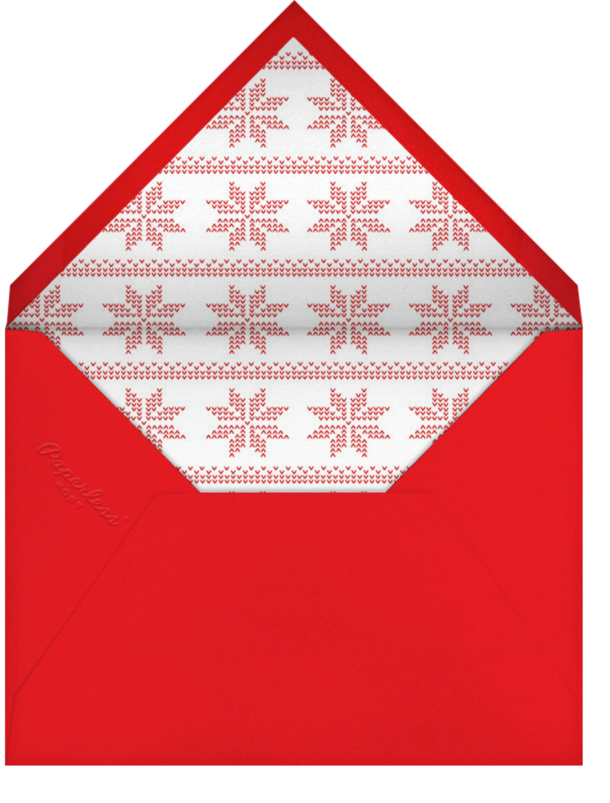 Love Is All Around - Red - Paperless Post - Holiday cards - envelope back