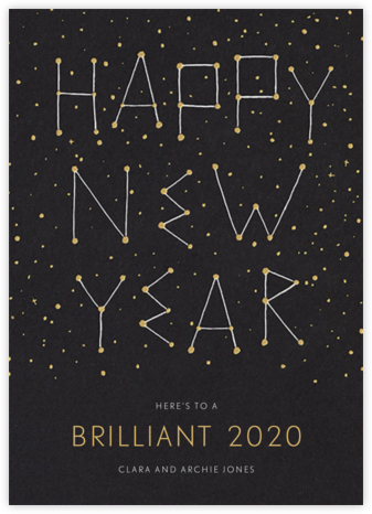 New Year's Evening Sky - Paperless Post - New Year Cards