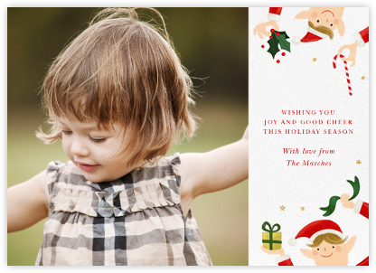 Little Elves (Photo) - Paperless Post - Holiday Cards