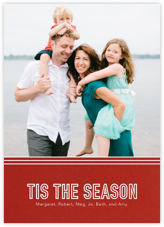 Tis The Season Stripes - Paperless Post - Holiday Cards