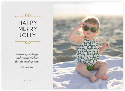 Merry Scrollwork - Paperless Post - Holiday Cards