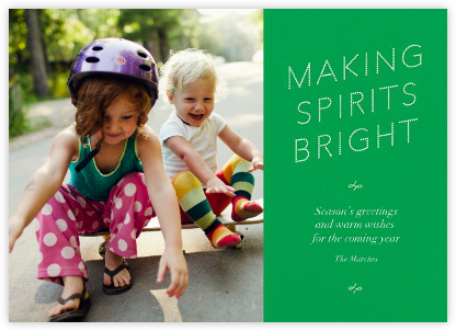 Bright Spirit Marquee - Green - Paperless Post -