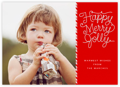 Happy Merry Jolly - White - Paperless Post - Affordable Christmas Cards