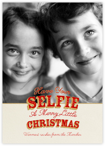 A Selfie Little Christmas - Paperless Post -