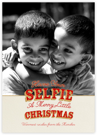 A Selfie Little Christmas - Paperless Post - Funny Christmas eCards