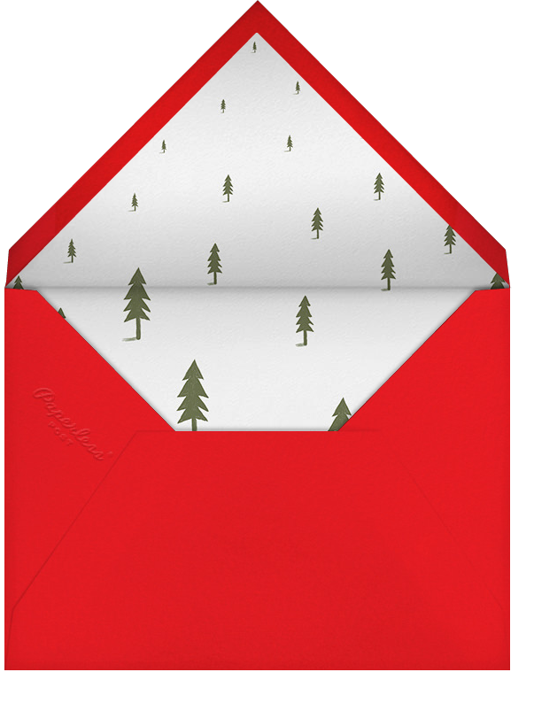 A Selfie Little Christmas - Paperless Post - Christmas - envelope back