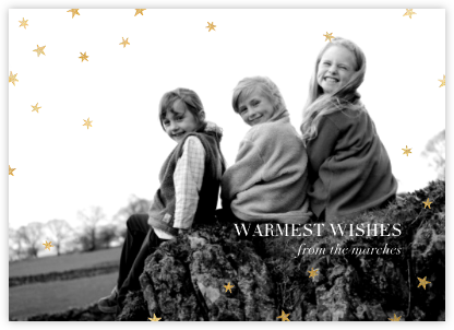 Nightly (Photo) - Navy/Gold - Paperless Post - Holiday photo cards