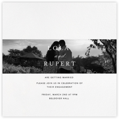 Truffaut - Paperless Post - Engagement party invitations