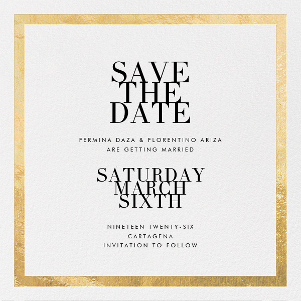 Modern save the dates online at Paperless Post