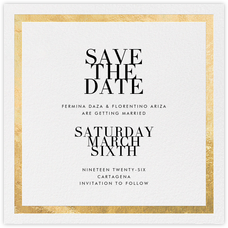 Editorial II (Save the Date) - White/Gold