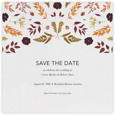 Fleurs d'Automne (Save the Date) - Paperless Post - Save the dates