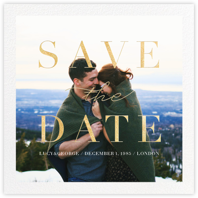 Remnant (Photo) - Gold - Paperless Post - Save the date cards and templates