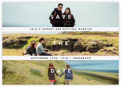 Three Photo Stripes - Paperless Post - Save the dates