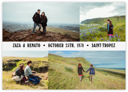 Four Photo Title Card - Paperless Post - Modern save the dates