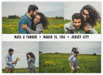 Four Photo Title Card - Paperless Post - Save the dates