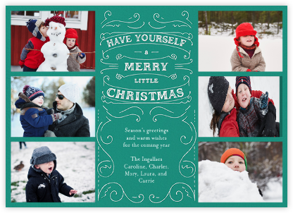 Christmas Chronicle - Teal - Paperless Post - Photo Holiday Cards