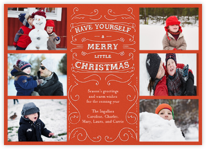 Christmas Chronicle - Blood Orange - Paperless Post - Christmas Cards