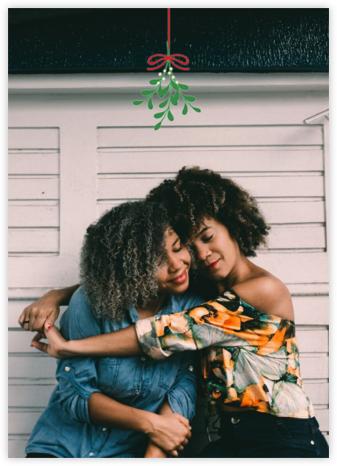 Mistletoe Kiss - Green - Paperless Post -