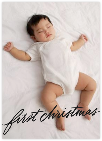 First Christmas - Black - Paperless Post -