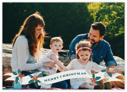 Ribbon of Christmas Joy - Paperless Post - Photo Christmas cards
