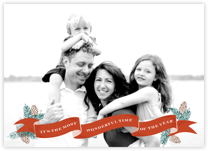 Ribbon of Joy - Paperless Post - Holiday Cards