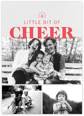 Beacon of Cheer - Red - Paperless Post - Holiday Cards