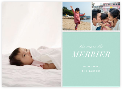 Close-Up - Mint - Paperless Post - Holiday cards