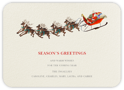Reindeer Ride - Felix Doolittle - Christmas Cards