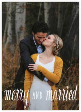Merry and Married - White - Paperless Post - Holiday Cards