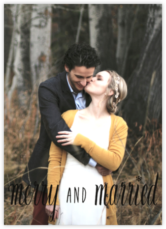 Merry and Married - Black - Paperless Post -