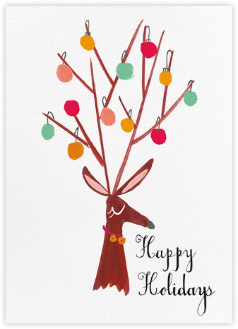 There's a Reindeer at the Door (Greeting) - Mr. Boddington's Studio - Holiday cards