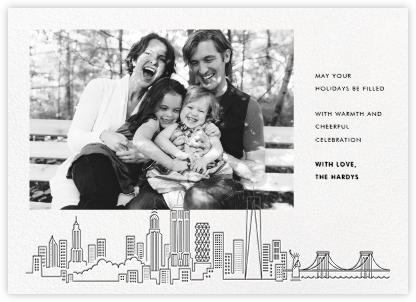 Manhattan Skyline View (Photo) - Black - Paperless Post