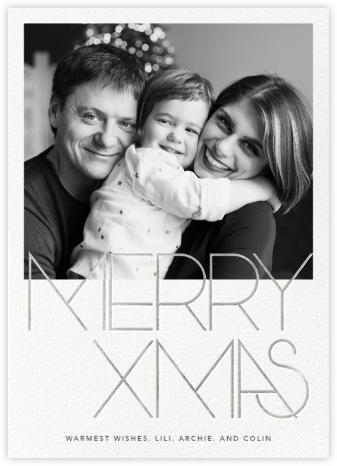 Avant-Garde Christmas (Tall) - Silver - Paperless Post -