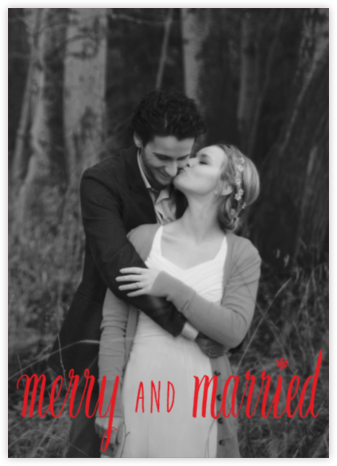 Merry and Married - Red - Paperless Post -
