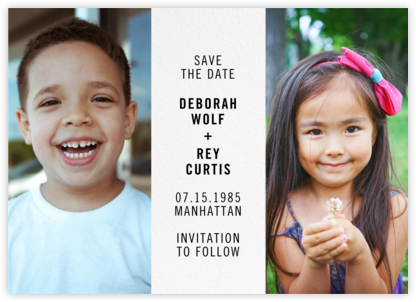 Then and Now - Paperless Post - Photo save the dates