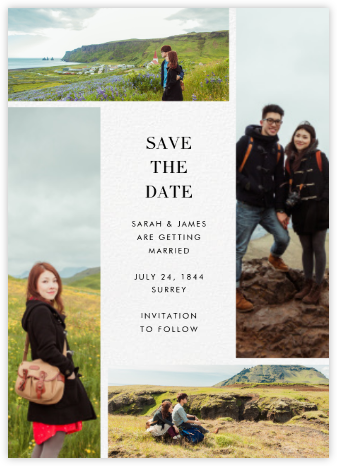 Quad - Ivory - Paperless Post - Modern save the dates
