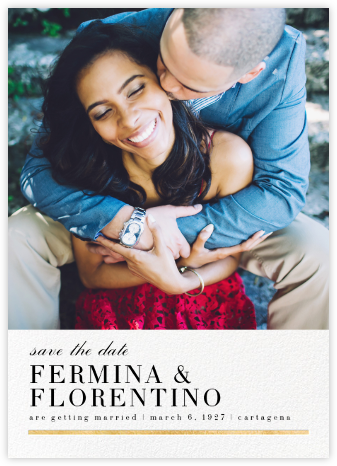 Underscore (Photo Save the Date) - Gold - Paperless Post - Photo save the dates