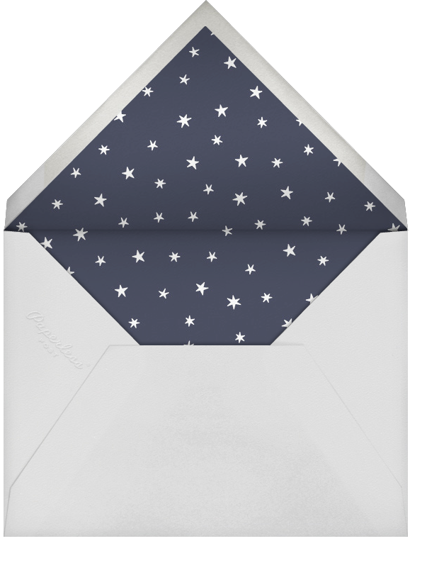 Nightly (Photo) - Navy/Rose Gold - Paperless Post - Holiday cards - envelope back