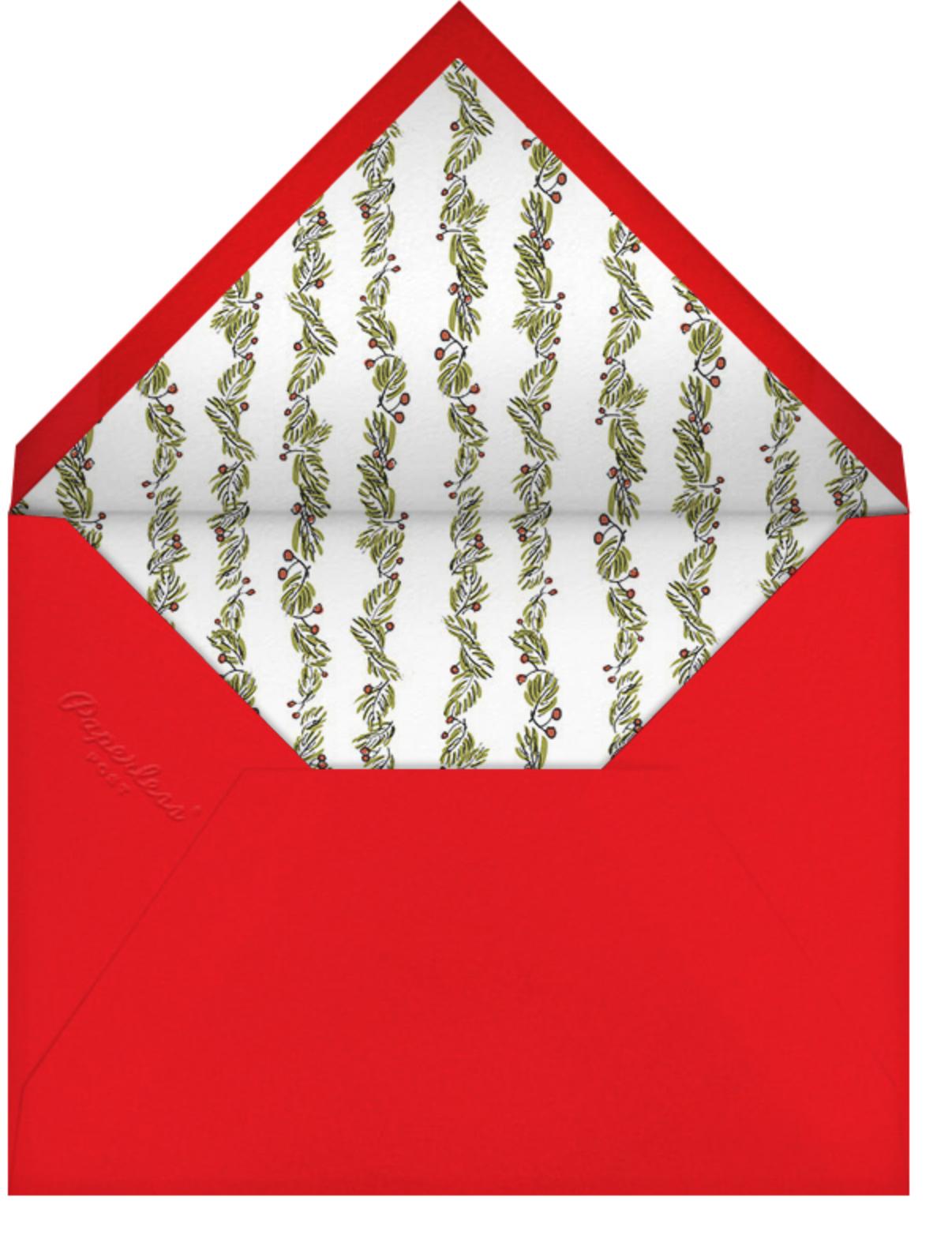 Fir Frame (Horizontal) - Paperless Post - Christmas - envelope back