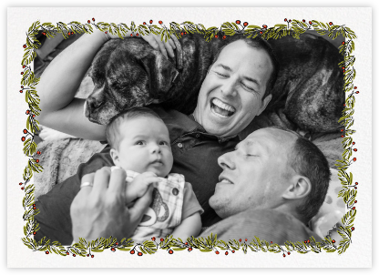 Fir Frame (Horizontal) - Paperless Post - Holiday photo cards