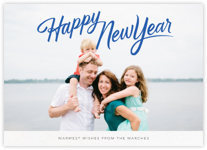 New Year Classic (Horizontal) - Paperless Post - New Year Cards