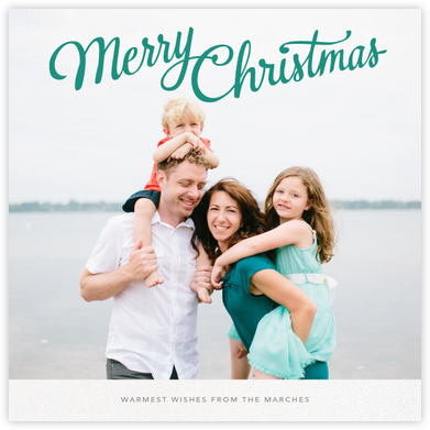 Christmas Classic (Square) - Paperless Post - Photo Christmas cards