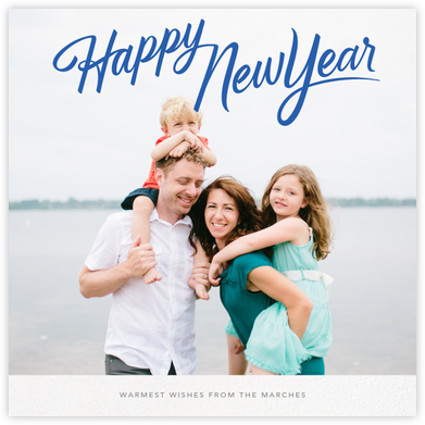New Year Classic (Square) - Paperless Post - New Year Cards