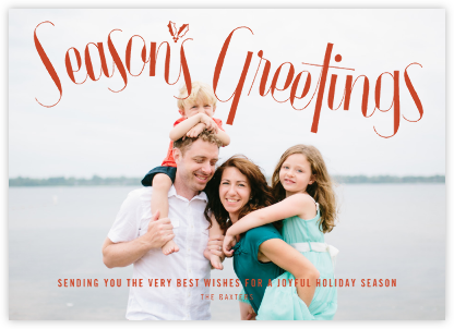 Holly Sprig (Horizontal) - Paperless Post - Holiday Cards