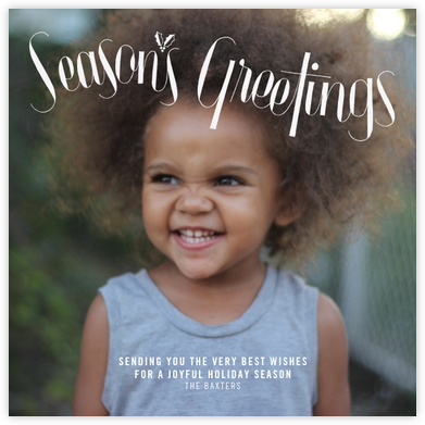 Holly Sprig (Square) - Paperless Post -