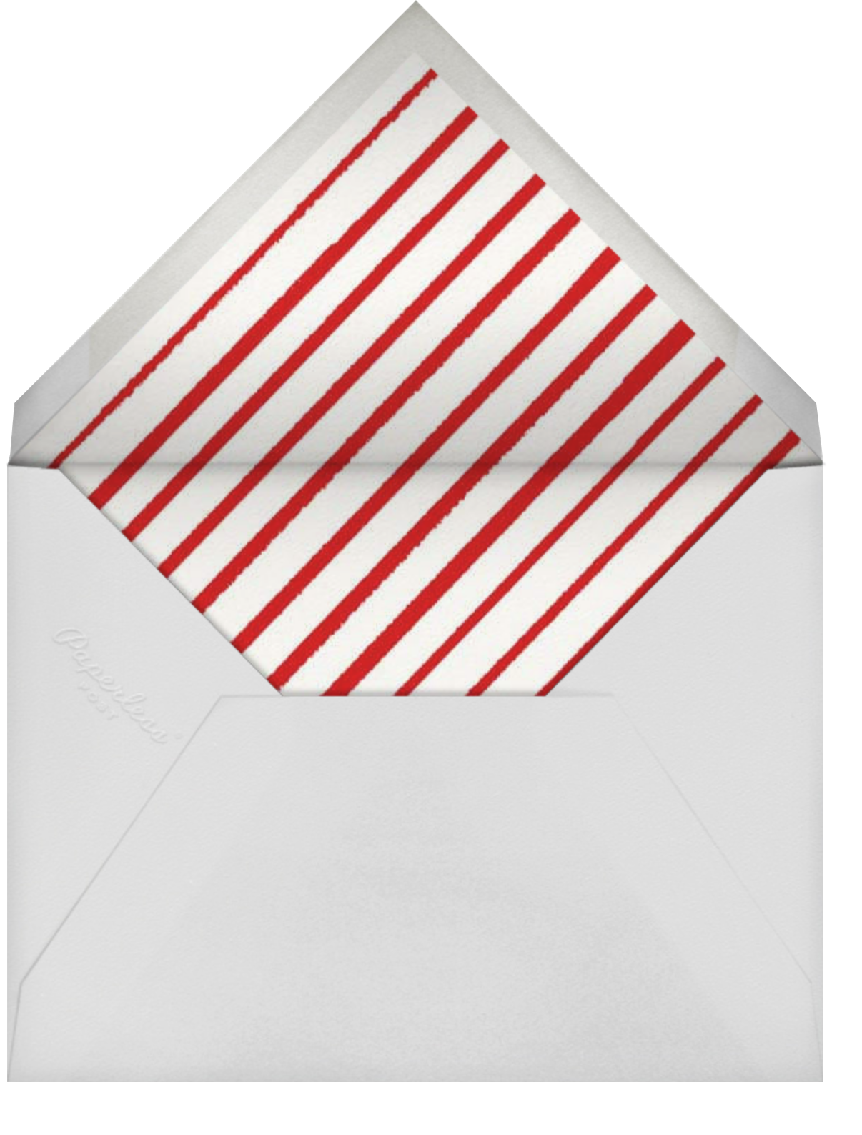 Poinsettia Flourish (Horizontal) - Paperless Post - Holiday cards - envelope back