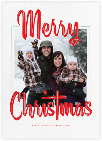 Retro Christmas (Tall) - Paperless Post - Photo Christmas cards